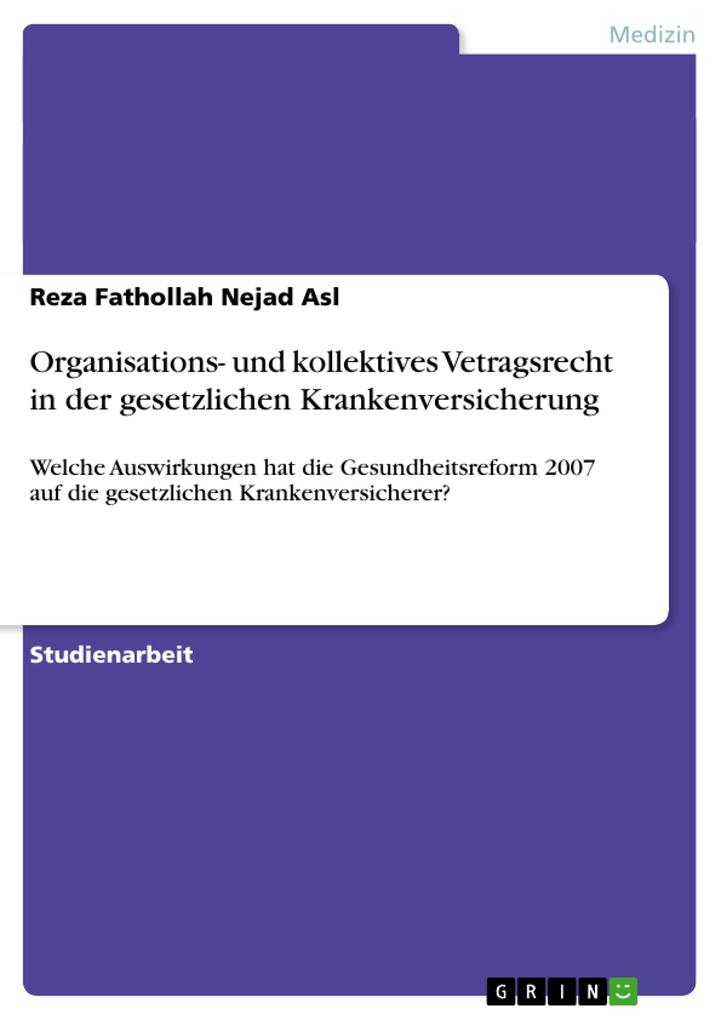 Organisations- und kollektives Vetragsrecht in ...