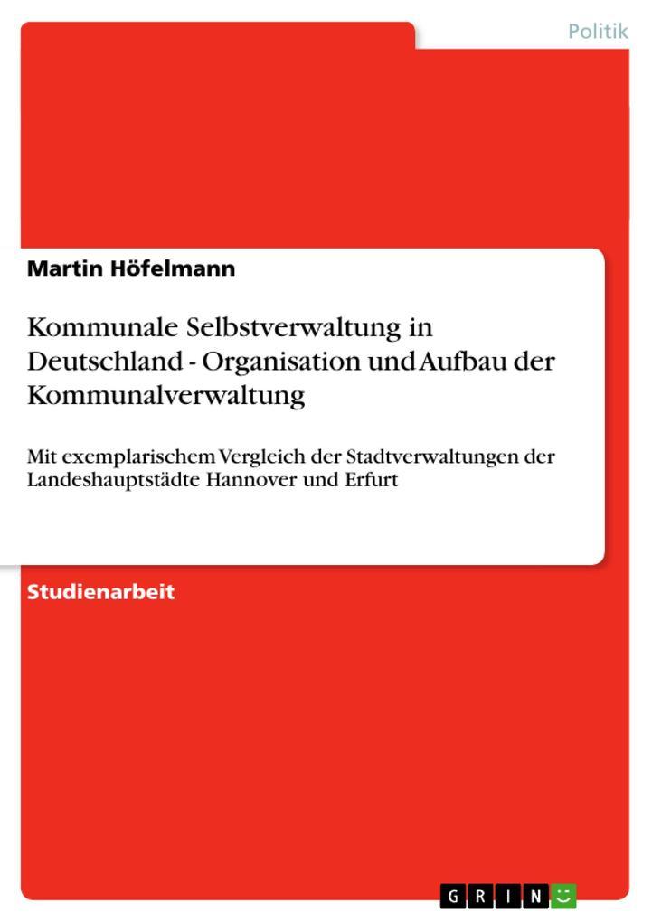 Kommunale Selbstverwaltung in Deutschland - Org...