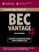 Cambridge BEC Advantage 4 with Answers: Examination Papers from University of Cambridge ESOL Examinations: English for Speakers of Other Languages