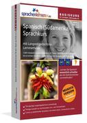 Sprachenlernen24.de Spanisch für Südamerika-Basis-Sprachkurs. CD-ROM für Windows Vista; XP; NT; ME; 2000; 98/Linux/Mac OS X + MP3-Audio-CD für Computer /MP3-Player /MP3-fähigen CD-Player