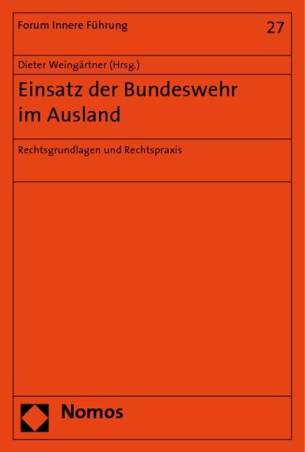 Einsatz der Bundeswehr im Ausland als Buch von