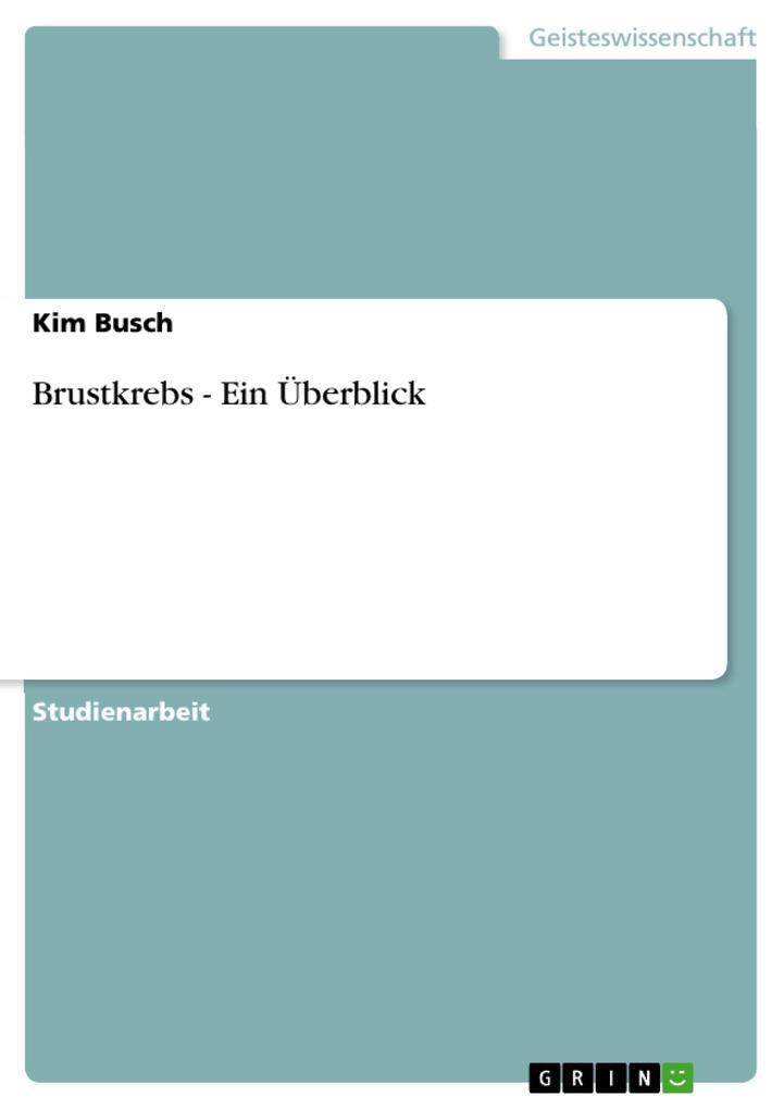 Brustkrebs - Ein Überblick als Buch von Kim Busch