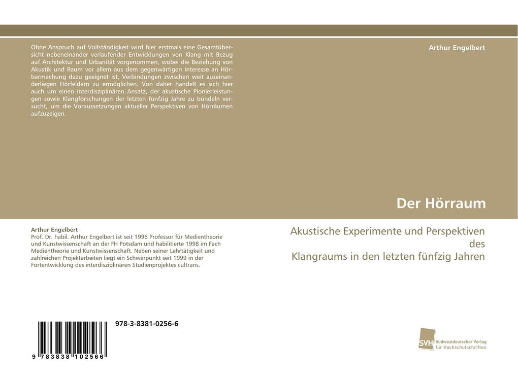Der Hörraum als Buch von Arthur Engelbert