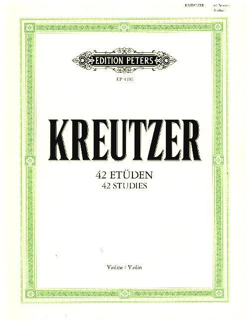 42 Etüden (Capricen) als Buch von Rodolphe Kreu...