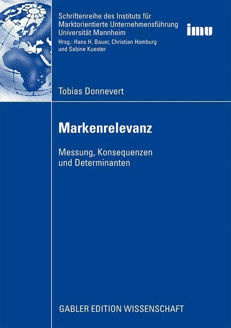 Markenrelevanz als Buch von Tobias Donnevert