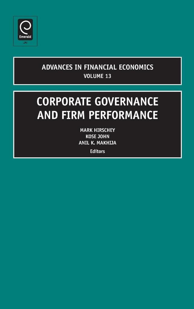 Corporate Governance and Firm Performance als B...