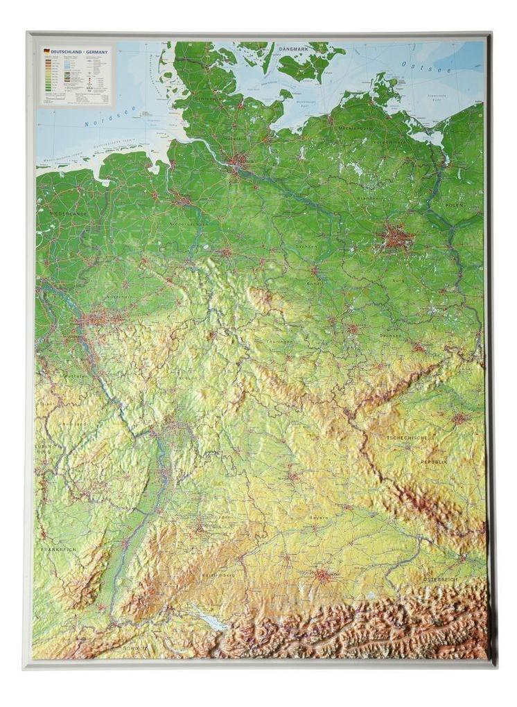 Reliefkarte Deutschland 1 : 1 200 000 als Buch ...
