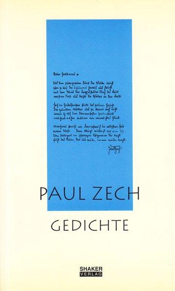 Ausgewählte Werke / Paul Zech - Gedichte als Bu...