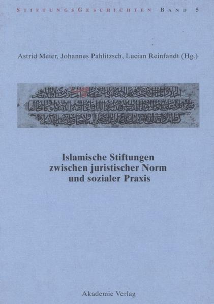Islamische Stiftungen zwischen juristischer Nor...