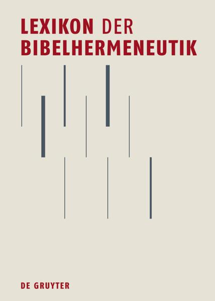 Lexikon der Bibelhermeneutik als Buch von Susan...