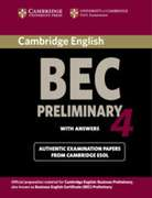 Cambridge BEC. Student's Book with answers. Preliminary 4