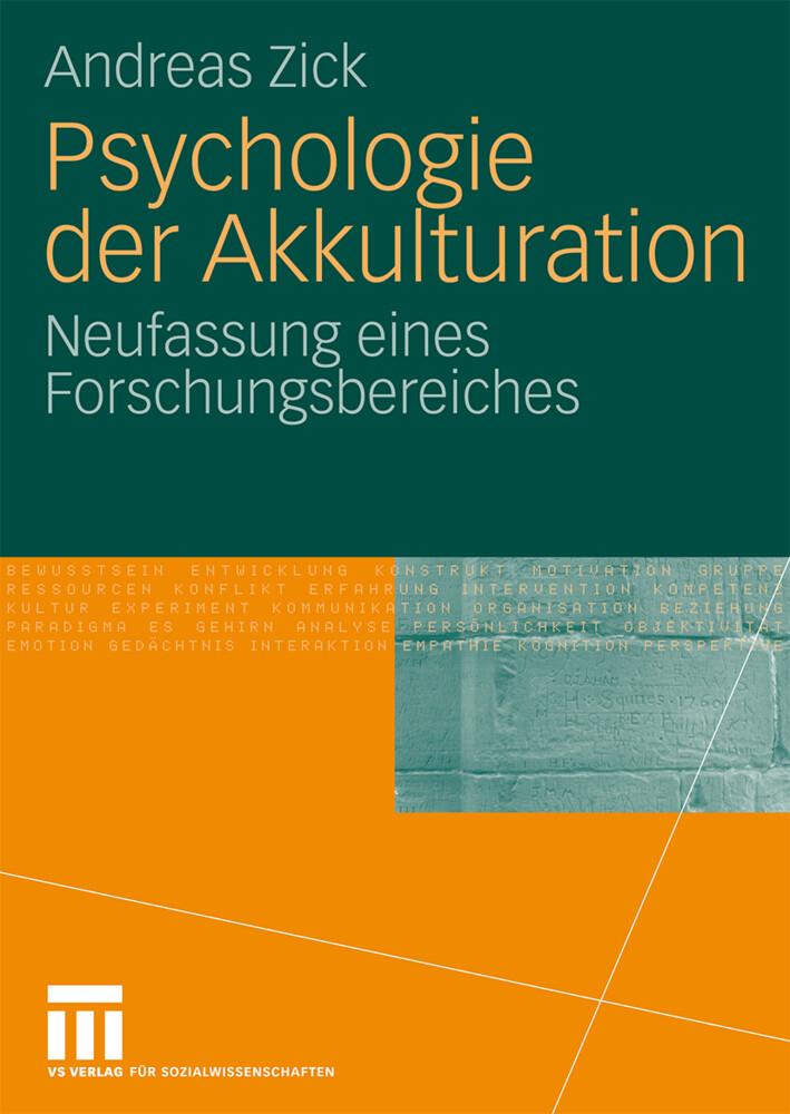 Psychologie der Akkulturation als Buch von Andr...