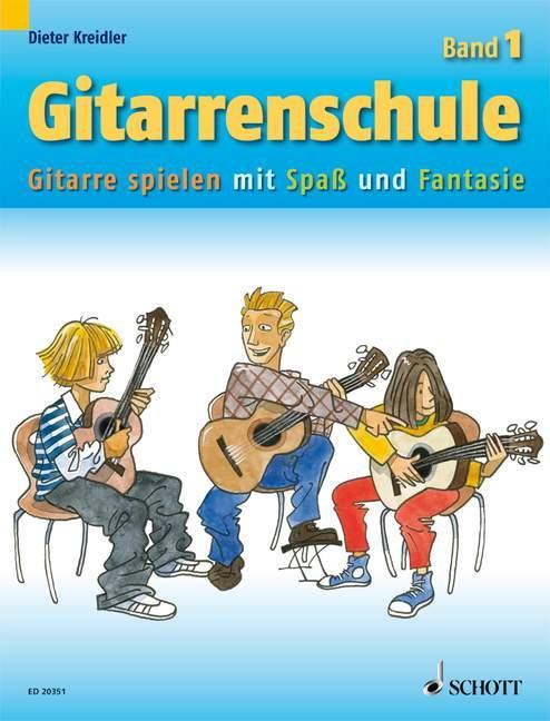 Gitarrenschule Band 1 als Buch von Dieter Kreidler