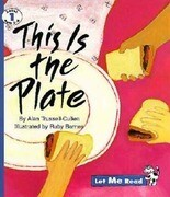 This Is the Plate, Let Me Read Series, Trade Binding