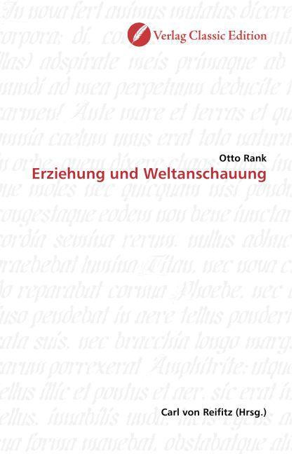 Erziehung und Weltanschauung als Buch von Otto ...