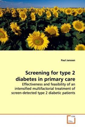 Screening for type 2 diabetes in primary care als Buch (gebunden)