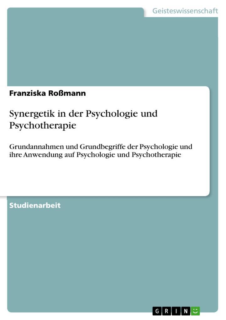 Synergetik in der Psychologie und Psychotherapi...