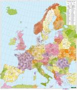 Europa Postleitzahlen, Postleitzahlenkarte 1:3,7 Mio., Poster