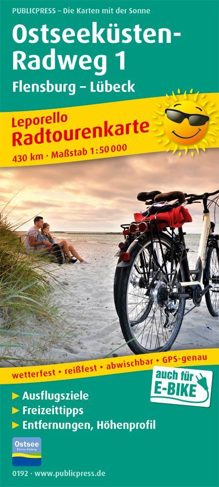 Ostseeküsten-Radweg 1. Flensburg - Lübeck 1 : 5...