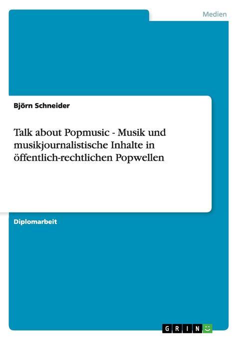 Talk about Popmusic - Musik und musikjournalist...
