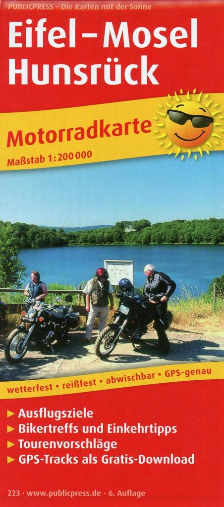 Motorradkarte Eifel - Mosel - Hunsrück als Buch...