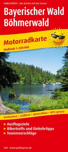 Motorradkarte Bayerischer Wald - Böhmerwald 1 :...
