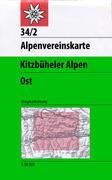 DAV Alpenvereinskarte 34/2 Kitzbüheler Alpen Ost 1 : 50 000 Wegmarkierungen