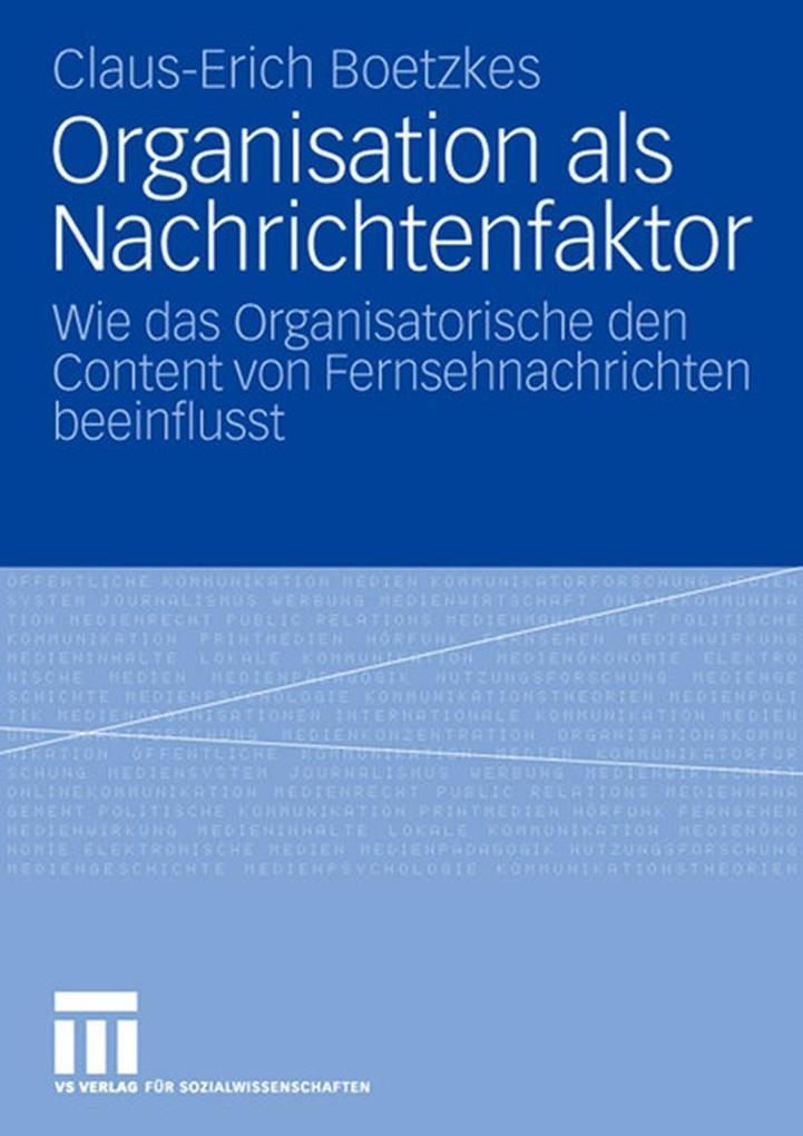 Organisation als Nachrichtenfaktor als eBook Do...