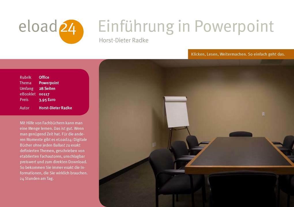 Einführung in PowerPoint als eBook Download von...