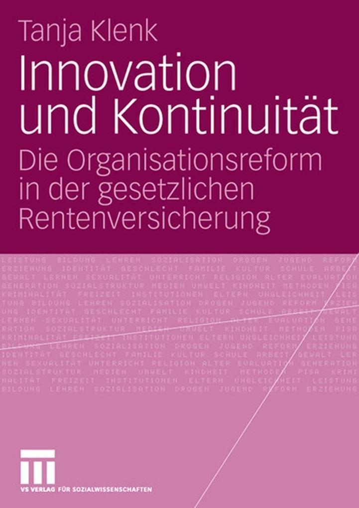Innovation und Kontinuität als eBook Download v...