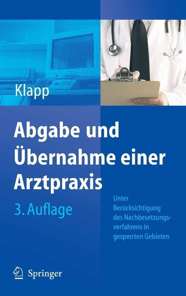 Abgabe und Übernahme einer Arztpraxis als eBook...