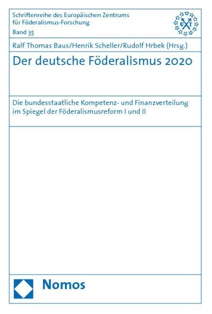 Der deutsche Föderalismus 2020 als Buch von