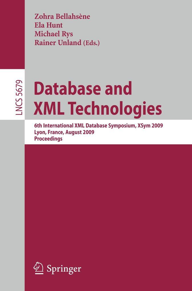 Database and XML Technologies als Buch von