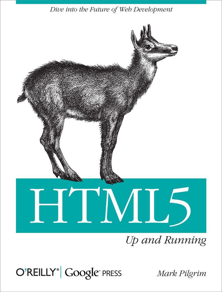 HTML5: Up and Running als Buch von Mark Pilgrim