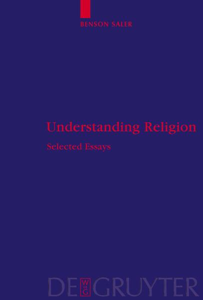 Understanding Religion als Buch von Benson Saler
