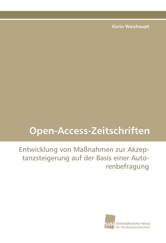 Open-Access-Zeitschriften als Buch von Karin We...
