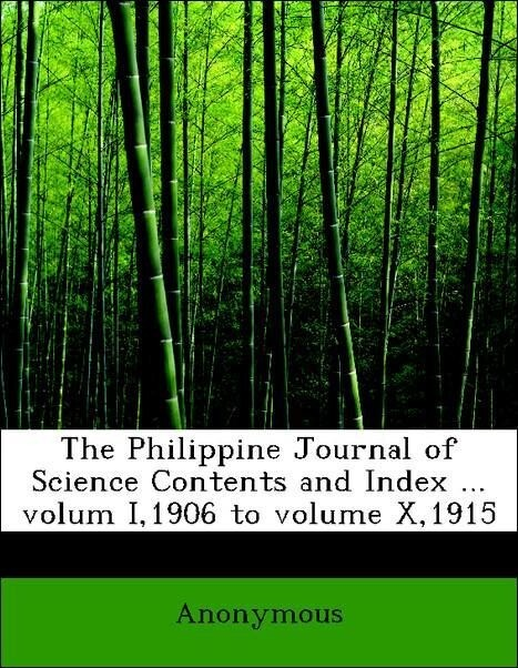 The Philippine Journal of Science Contents and ...