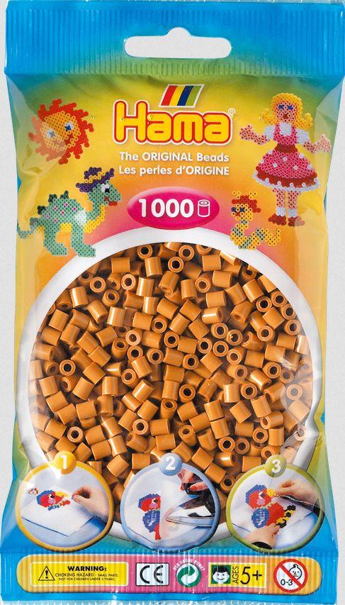 Creativsets Hellbraun 1000 Perlen Hama Bügelperlen Midi