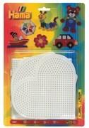 Hama - Blister mit 4 Stiftplatten (großes Quadrat, großer Kreis, großes Sechseck, großes Herz
