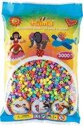Hama - Bügelperlen im Beutel ca 3000 Stck Pastellmix