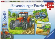 Ravensburger Puzzle - Große Landmaschinen, 3x49 Teile