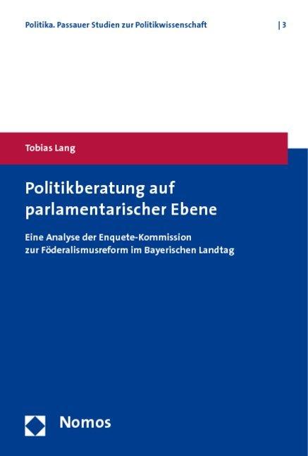 Politikberatung auf parlamentarischer Ebene als...