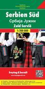 Serbien Süd 1 : 200 000. Autokarte
