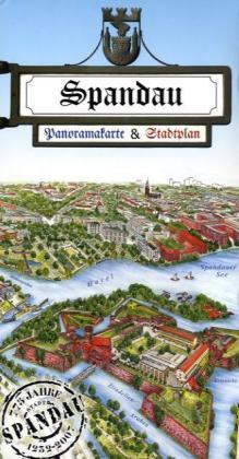 Spandau, Panoramakarte & Stadtplan als Buch von