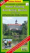 Große Radwander- und Wanderkarte Hoher Fläming, Bad Belzig, Beelitz und Umgebung 1 : 50 000