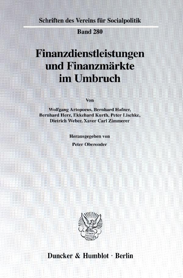 Finanzdienstleistungen und Finanzmärkte im Umbr...