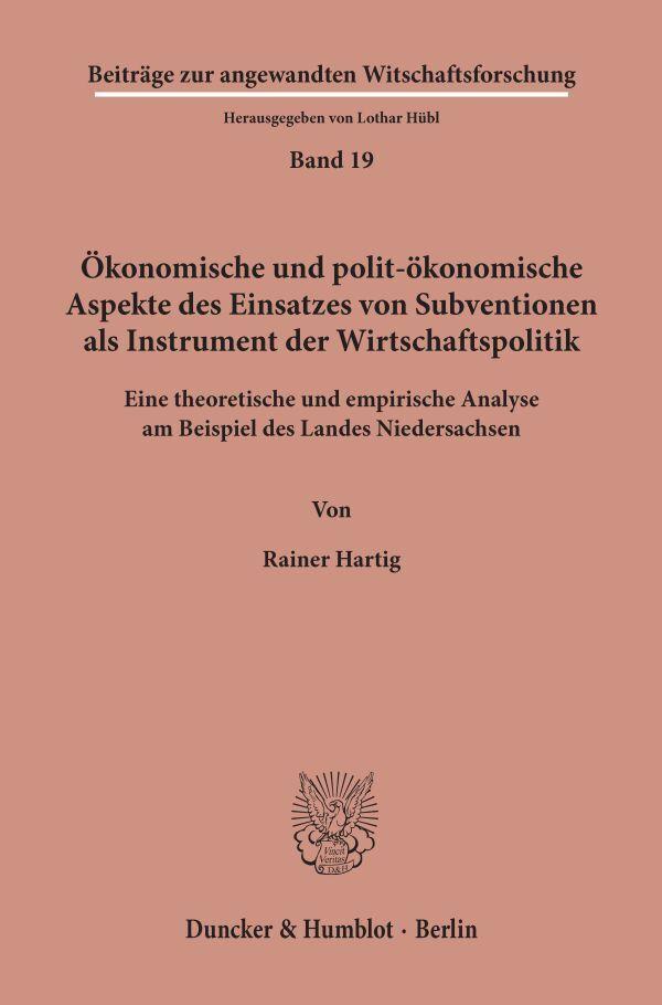 Ökonomische und polit-ökonomische Aspekte des E...