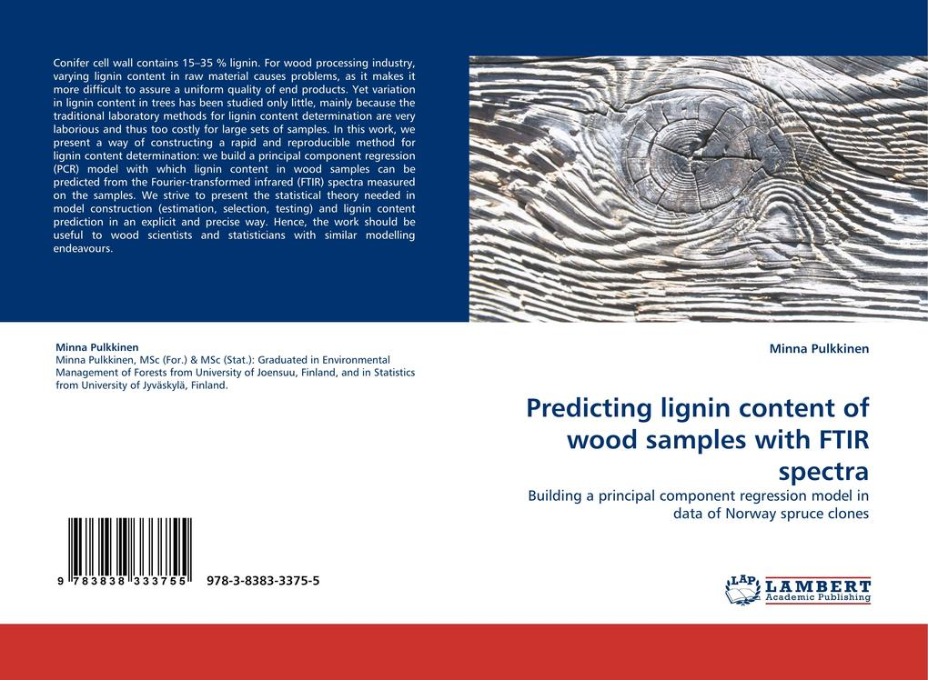 Predicting lignin content of wood samples with ...