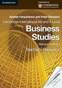 Cambridge International as and a Level Business Studies Teacher's Resource CD-ROM