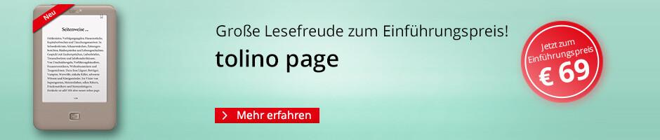 eReader tolino page zum Einführungspreis nur 69 EUR